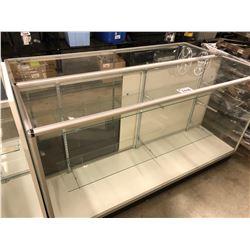2 ALUMINUM/GLASS RETAIL DISPLAY SHOWCASES