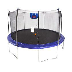 SKYWALKER 15' JUMP N' DUNK TRAMPOLINE WITH ENCLOSURE AND BASKETBALL HOOP
