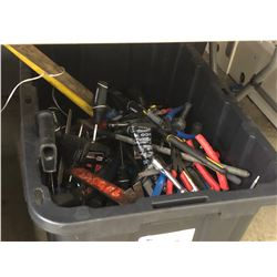 LOT OF ASSORTED HAND TOOLS AND MORE, BIN NOT INCLUDED