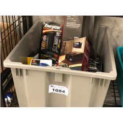 ASSORTED HOUSEHOLD PRODUCTS AND ELECTRONICS, BIN NOT INCLUDED