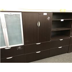 5.5' 2 DRAWER LATERAL FILE CABINET WITH DOUBLE DOOR STORAGE CABINET