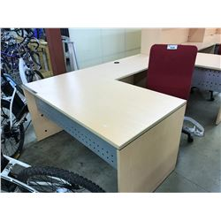 MAPLE 5.5' X 5' L-SHAPE EXECUTIVE DESK