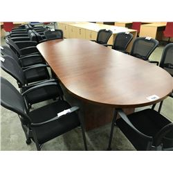 CHERRY 10' RACETRACK BOARDROOM TABLE