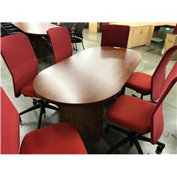 CHERRY 6' RACETRACK BOARDROOM TABLE
