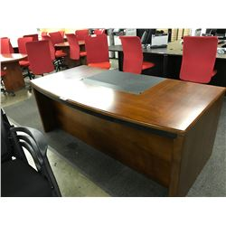 CHERRY BOW FRONT EXECUTIVE DESK