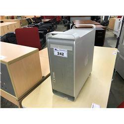 APPLE MACINTOSH G5 COMPUTER, SPECS UNKNOWN, NO HARD DRIVE, NO POWER SUPPLY