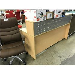MAPLE 6' X 6' RECEPTION DESK, STYLE 1