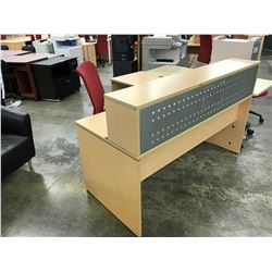 MAPLE 6' X 6' RECEPTION DESK, STYLE 2