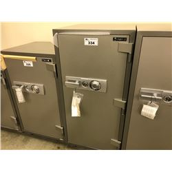 NEW FIRE PROOF SAFE, INSIDE: H 41 1/4'', W 16 7/8'', D 14 3/8'', OUTSIDE: H 51 1/4'', W 24'',