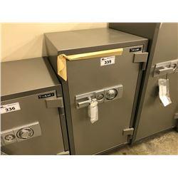 NEW FIRE PROOF SAFE, INSIDE: H 33 1/2'', W 16 7/8'', D 14 3/4'', OUTSIDE: H 43 1/4'', W 24'',