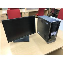 DELL DESKTOP COMPUTER WITH MONITOR, NO HARD DRIVE