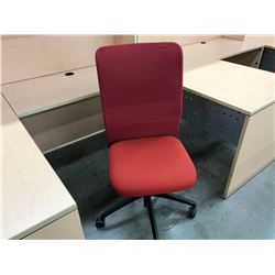 KNOLL ESSENTIALS RED MESH BACK WORK CHAIR