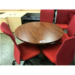 CHERRY 4' ROUND CONFERENCE TABLE