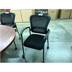 MESH BACK MOBILE CLIENT CHAIR