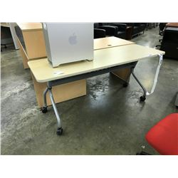 MAPLE 6' MOBILE COMPUTER DESK