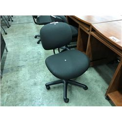 BLACK GAS LIFT STENO CHAIR