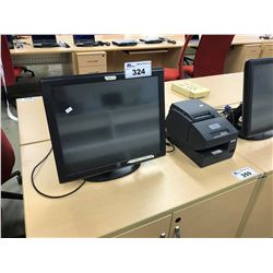 ELO TOUCH SCREEN POS STATION WITH EPSON LINE PRINTER