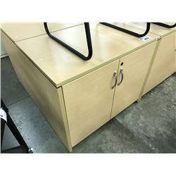 MAPLE 36'' DOUBLE DOOR BOOK CASE