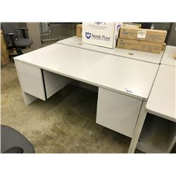 GREY 60  DOUBLE PEDESTAL DESK