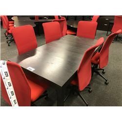 BLACK 5' CONFERENCE TABLE COMES WITH ACCENT TABLE