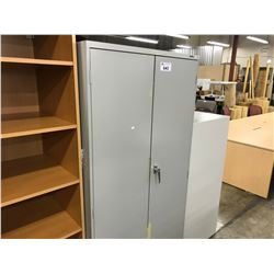 GREY 6' STATIONARY  CABINET