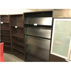 BLACK 6' LITERATURE RACK