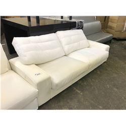 WHITE 3 SEAT SOFA