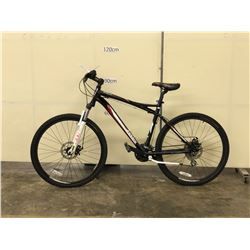 BLACK JAMIS TRAIL X2 FRONT SUSPENSION MOUNTAIN BIKE WITH FRONT AND REAR DISC BRAKES