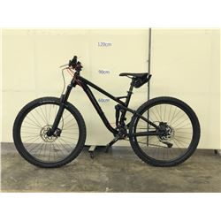 BLACK GHOST FULL SUSPENSION MOUNTAIN BIKE WITH FRONT AND REAR HYDRAULIC DISC BRAKES