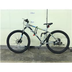 WHITE CCM SHADOW FULL SUSPENSION MOUNTAIN BIKE WITH FRONT AND REAR DISC BRAKES