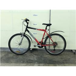 BLACK AND RED DIAMONDBACK OUTLOOK FRONT SUSPENSION MOUNTAIN BIKE
