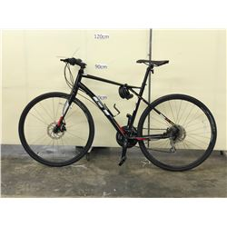 BLACK GT VIRAGE COMP HYBRID ROAD BIKE WITH FRONT AND REAR DISC BRAKES