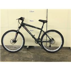 BLACK KONA STUFF FRONT SUSPENSION MOUNTAIN BIKE WITH FRONT AND REAR HYDRAULIC DISC BRAKES