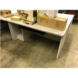 "GREY 60"" COMPUTER TABLE"