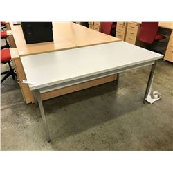 "GREY 60"" WORK TABLE"