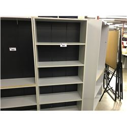 GREY 6' BOOKCASE