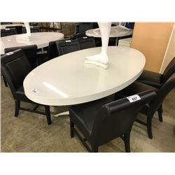 WHITE ILLUMINATED 6' OVAL TABLE