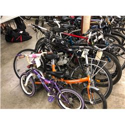 LOT OF ASSORTED PARTS ONLY/NON FUNCTIONING BIKES