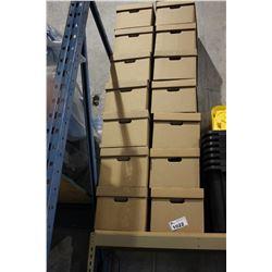 14 CARDBOARD FILE BOXES