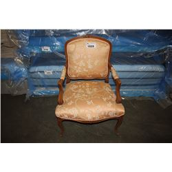 ANTIQUE UPHOLSTERED PADDED DINING CHAIR