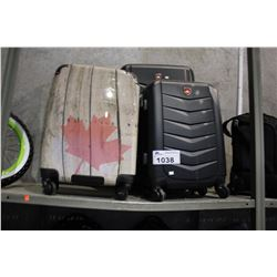 SET OF 3 CANADIAN SUITCASES