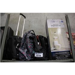 CIAO CARRY-ON BAG, 2 ROOTS BACKPACKS, AND BATHROOM ORGANIZER