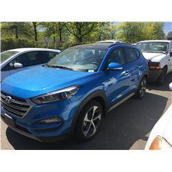 2018 HYUNDAI TUCSON 1.6T, 4DR SUV, BLUE, VIN # KM8J3CA22JU619301