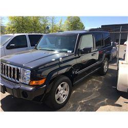 2007 JEEP COMMANDER 4X4, 4DR SUV, BLACK, VIN # 1J8HG48K17C546934