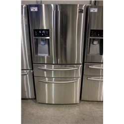 33  STAINLESS STEEL SAMSUNG FRENCH DOOR FRIDGE WITH COOLING DRAWER, BOTTOM FREEZER AND WATER/ICE