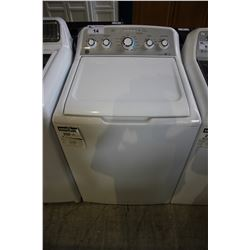 WHITE GE DEEP FILL TOP-LOADING WASHING MACHINE