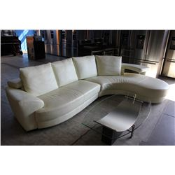 MODERN CREAM SECTIONAL SOFA