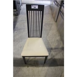 BLACK & CREAM DINING CHAIR