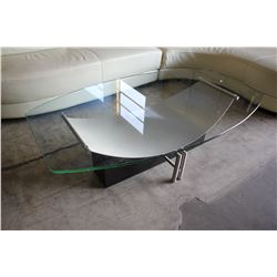 MODERN METAL & GLASS COFFEE TABLE