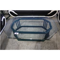 5' GLASS & METAL COFFEE TABLE